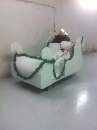 A new sleigh for Mrs. Claus