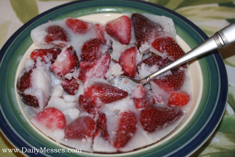 Mrs Claus Frozen Strawberry Kisses